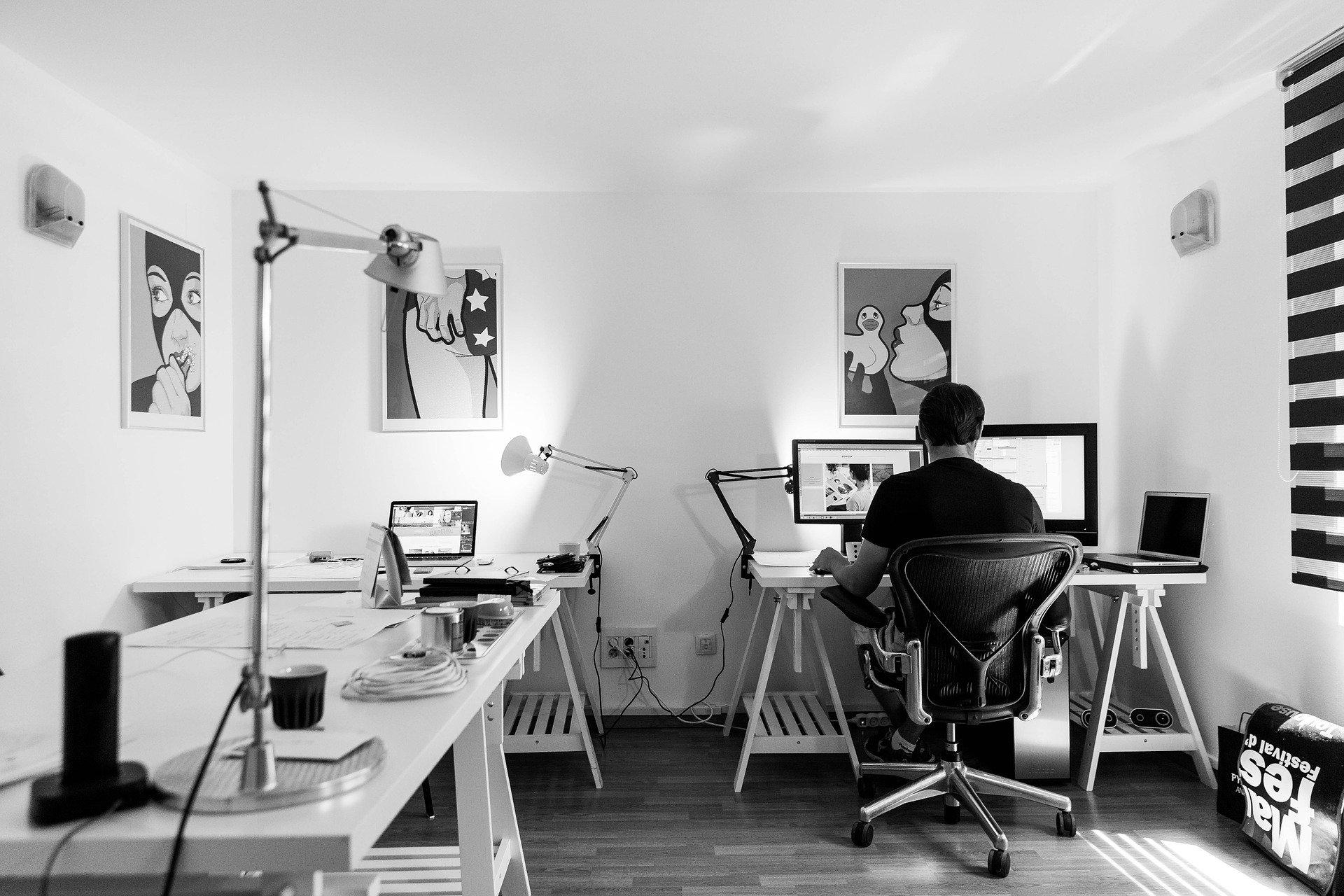 Arbeitsplatz in einer Agentur